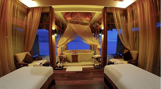 Luxury Dhigu Spa Resorts Gestaltung in Dhigu Malediven