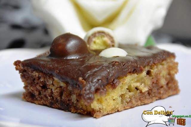 עוגת שיש עם קרם שוקולד וקליק  Marble cake with chocolate cream and Klik