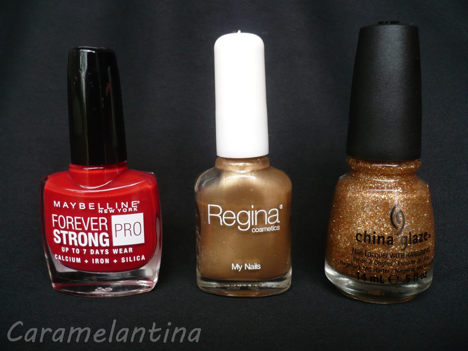 Maybelline Forever Red, Regina Day, China Glaze I Herd That