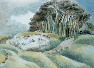 The Clumps painted by Paul Nash in 1935 