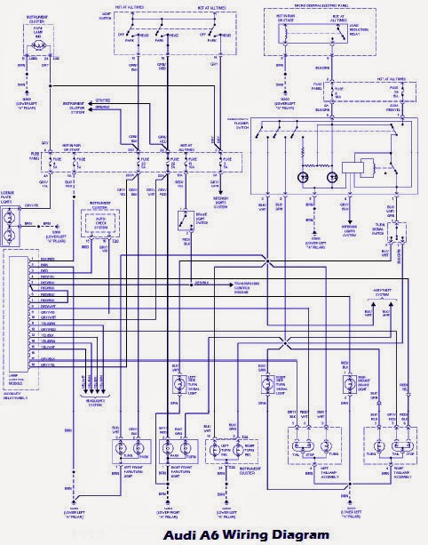 System Wiring Diagram Audi A6 1998 audi a4 radio wiring diagram wiring diagram and schematic design 2006 Audi A6 Radio at fashall.co