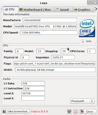 Imagen de i-nex en Ubuntu 11.10