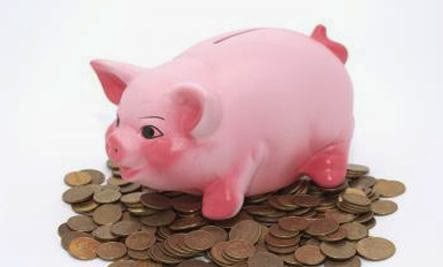 money collection box pink pig swine boar hog coins