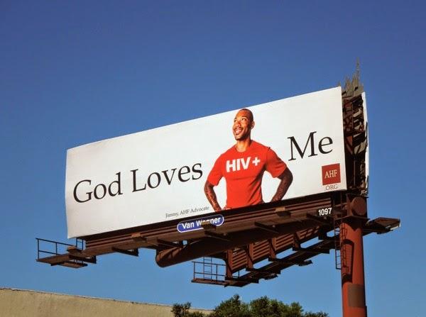 God love me HIV+ man billboard