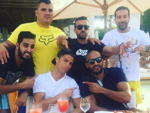 Close ... Social media suggests that Cristiano Ronaldo and friend Badr Hari are crushing on each other. Picture: InstagramSource:Supplied