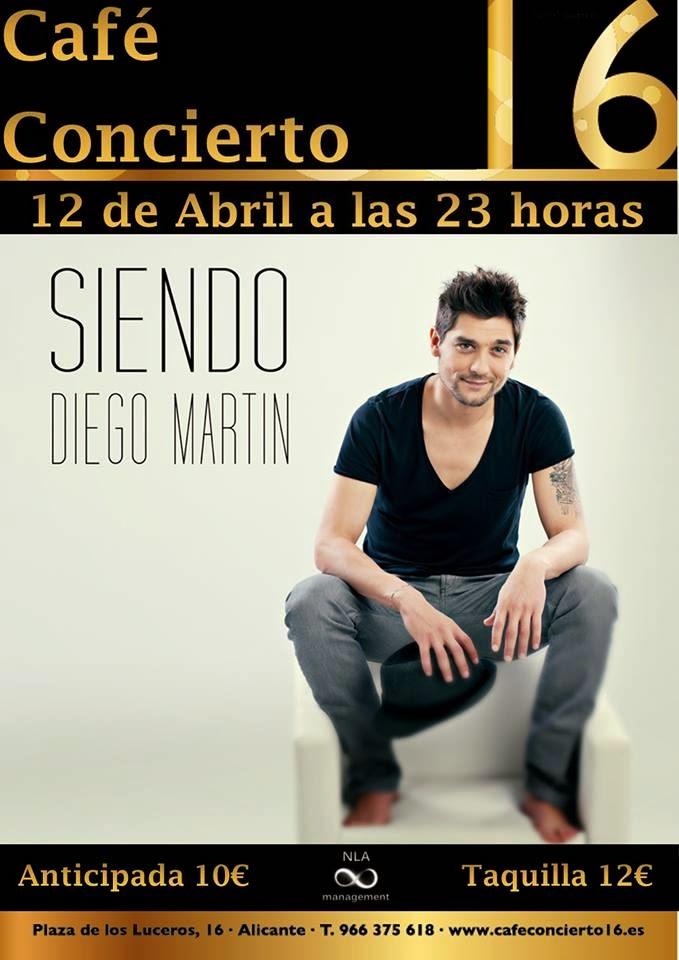 Diego Martín en concierto en Alicante