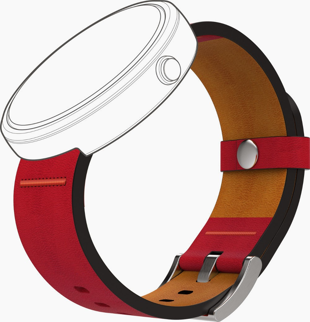 Motorola Moto 360 Metal - Dodo_Red
