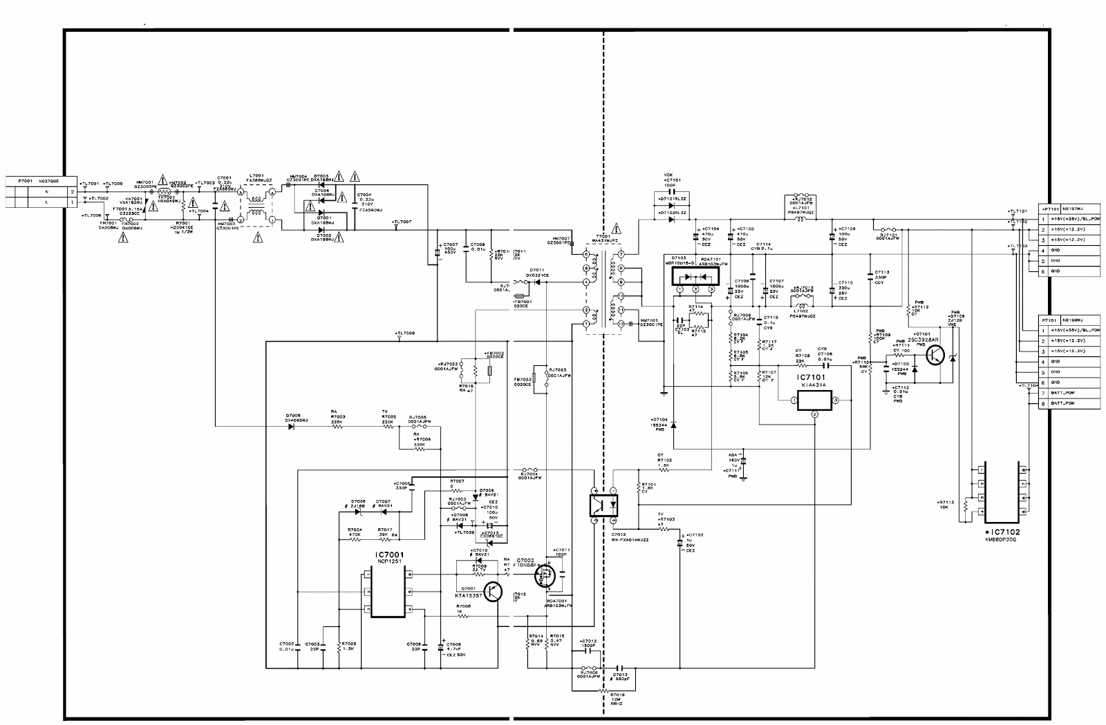 Sharp Lc24le150m  U2013 Led Backlight Tv  U2013 Smps Schematic
