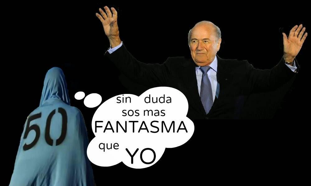 Blatter humor fantasma del 50