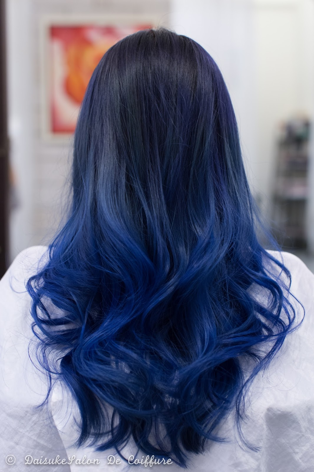 Welcome Balayage Hair Manicure Blue