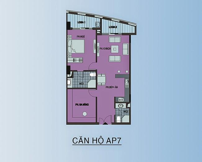 căn hộ AP7 - 90,2m2