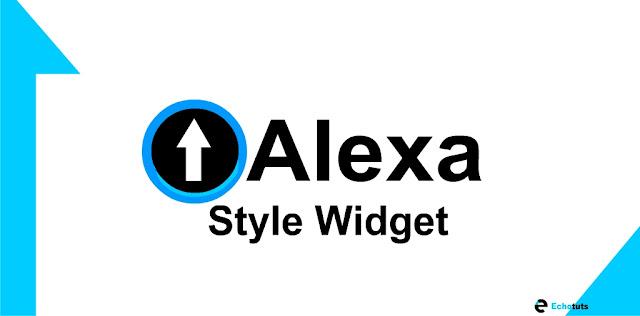 Optimize Alexa rank cara memasang widget alexa style - echotuts