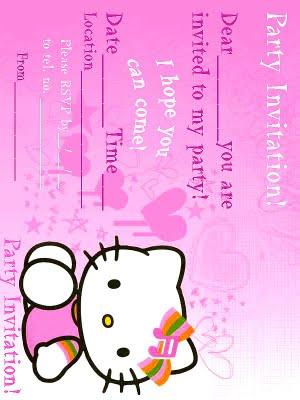 encantocelestial printable hello kitty invitations