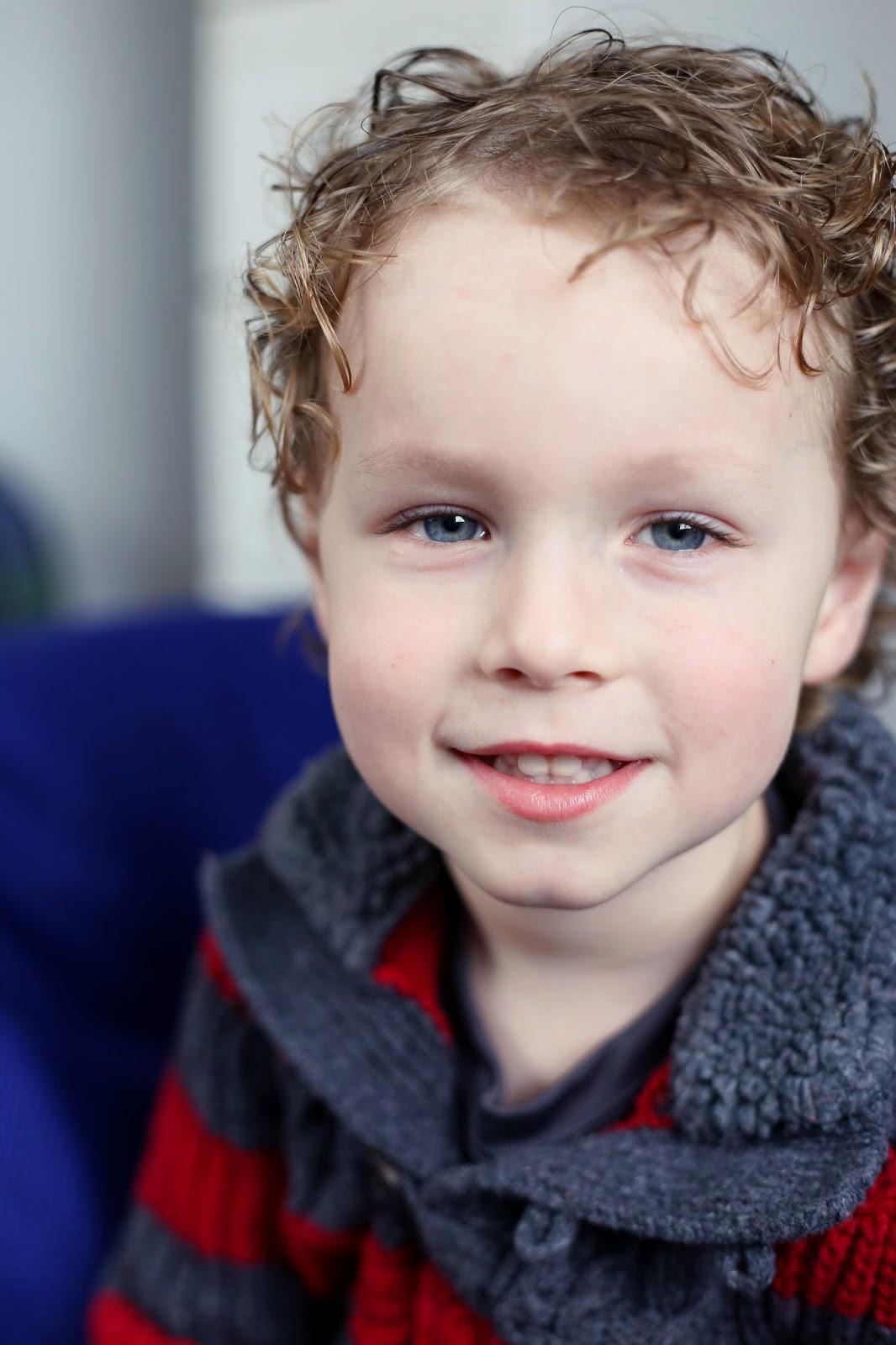 4 year old boy portrait