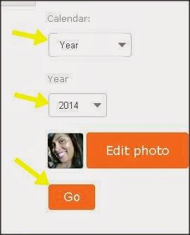 escolher mês e ano do calendário