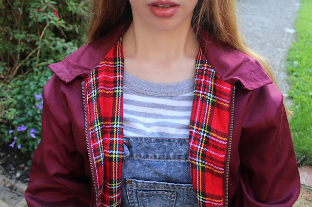 How I Style | Dungarees primark fun jacket stripes