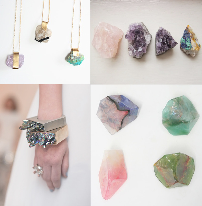 gemstones and jewelry