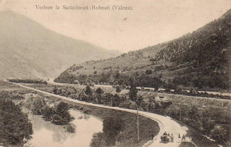 Vedere la Saracinesti - Robesti Valcea