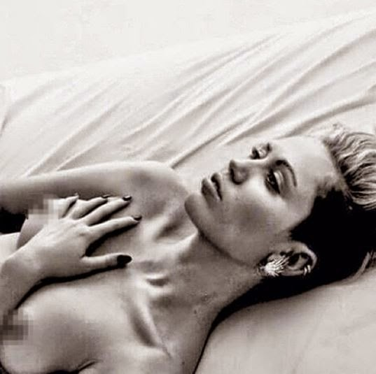 miley cyprus topless