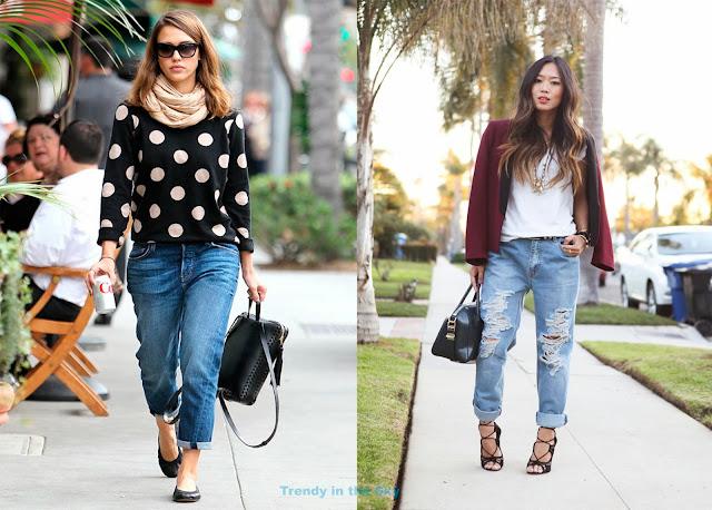 Pantalones boyfriend. Jessica Alba y Song of Style