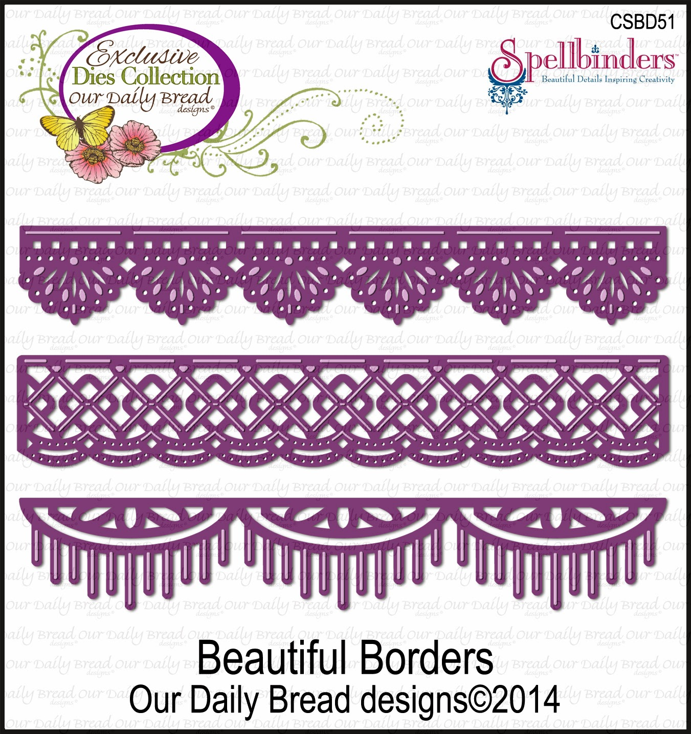 ODBD Beautiful Borders Die Set