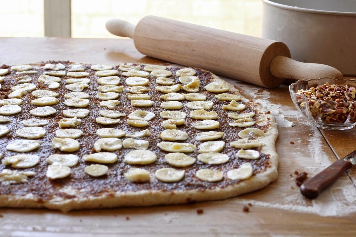 עוגת שמרים קינמון ובננות