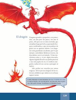El nagual, el unicornio, las sirenas, el dragón - Español Lecturas 5to 2014-2015