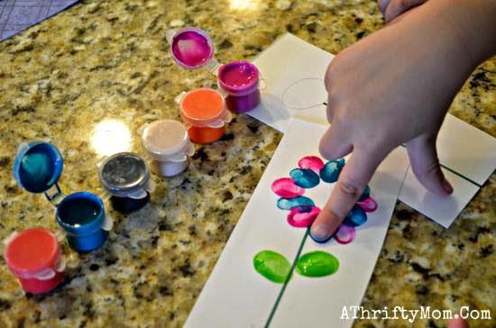 Flores Pintadas com os dedos