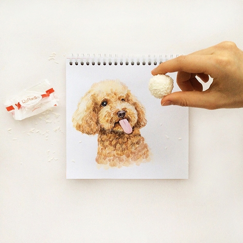 28-Her-favourite-treat-Valerie-Susik-Валерия-Суслопарова-Cats-and-Dogs-Interactive-Animal-Drawings-www-designstack-co