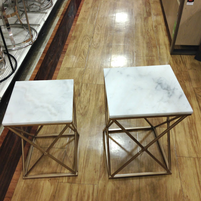 Marble Side Tables Small  39 99    Large  49 99. Tracy s Notebook of Style  Shopping Notebook  HomeGoods 40  Store