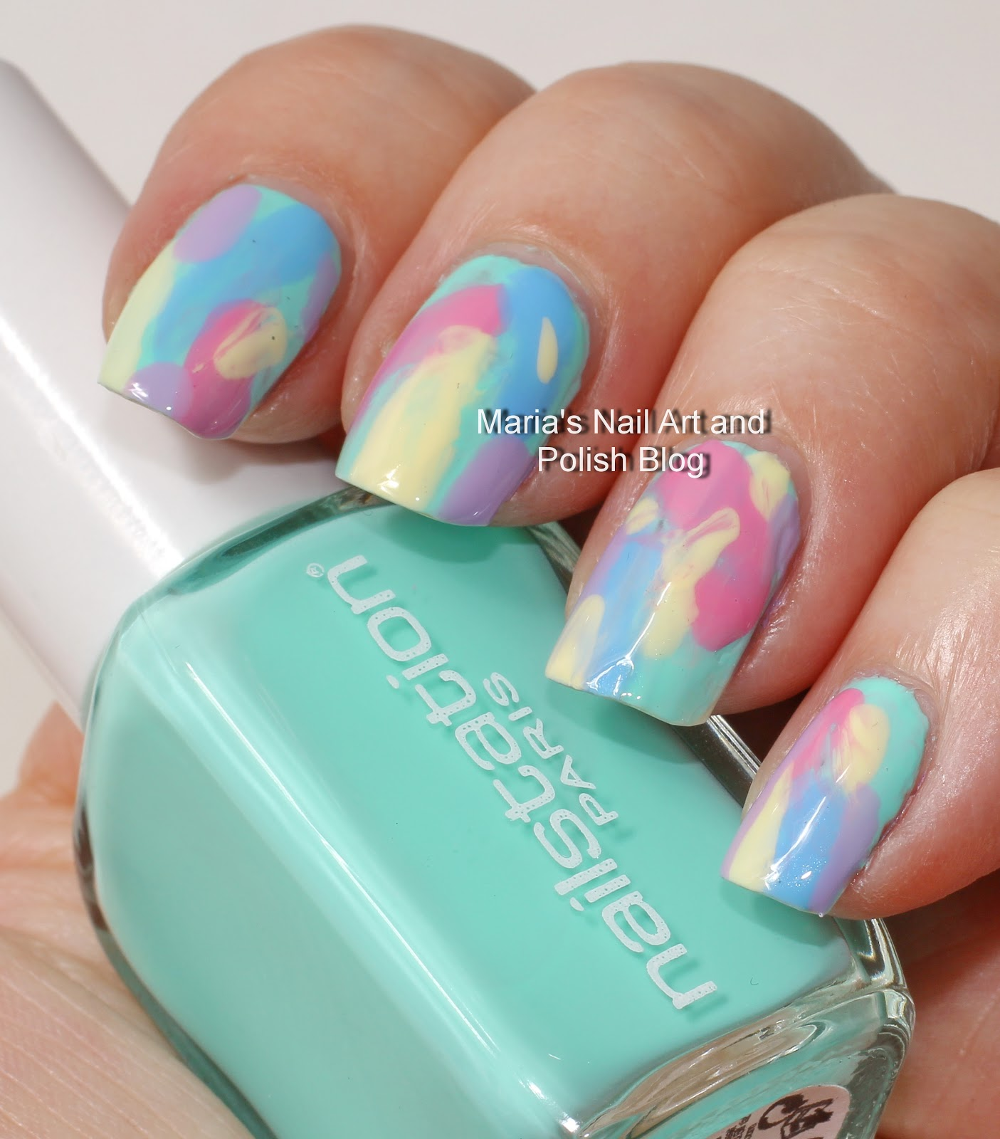 Marias nail art and polish blog easter brush stroke nail art easter brush stroke nail art artsy wednesday prinsesfo Images