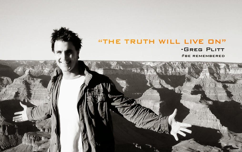 """""""A verdade viverá"""", diz imagem divulgada em homenagem a Greg Plitt. Foto: Reprodução"""