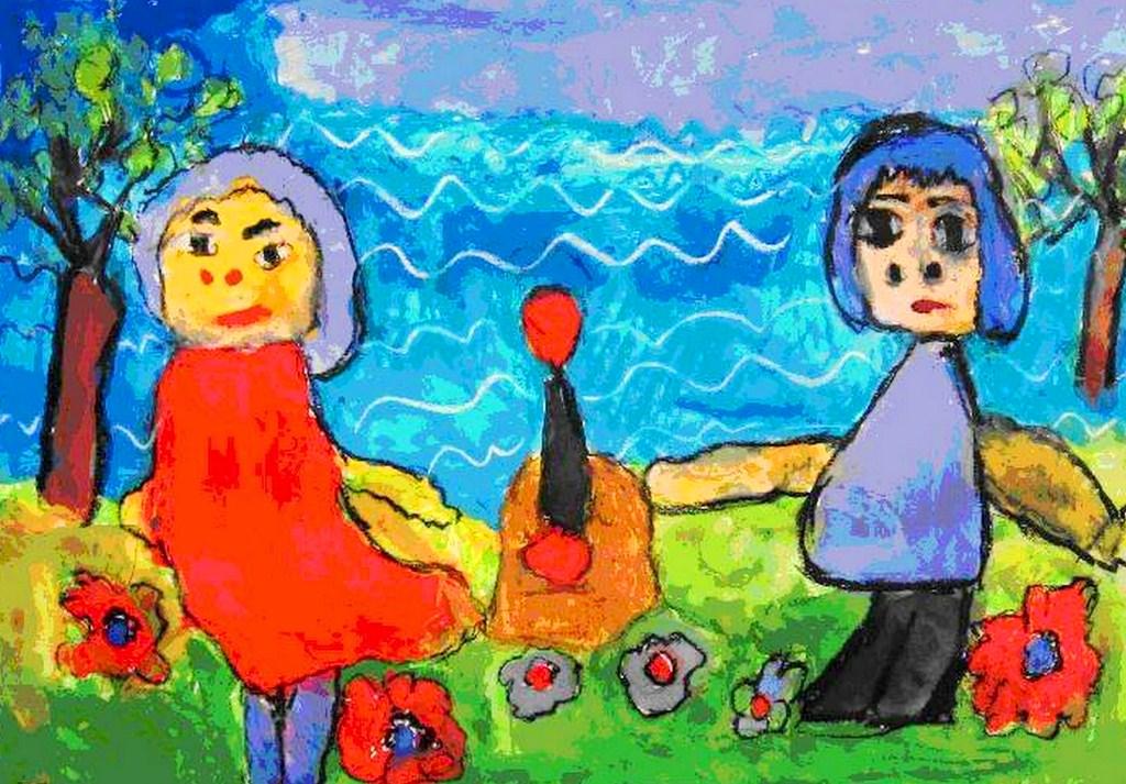 Pintura moderna y fotograf a art stica pinturas de ni os - Cuadros decorativos infantiles para ninos ...