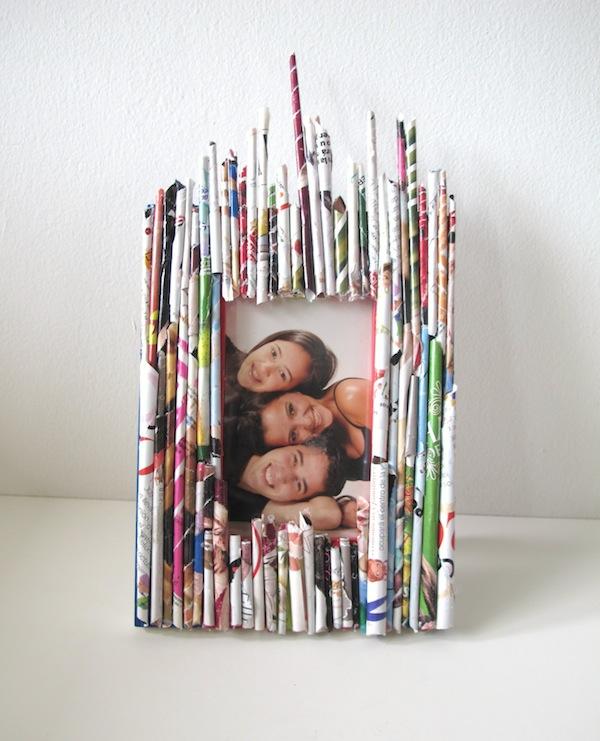 Marcos de fotos reutilizando ramitas, lana, conchas y revistas | La ...