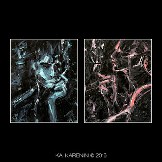 Interlocutors by Kai Karenin, oil on canvas, 40x50 cm
