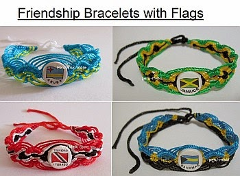 Friendship bracelets with flags