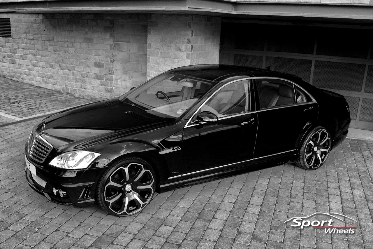 Mercedes benz s class w221 on r22 wheels benztuning for Mercedes benz tuning
