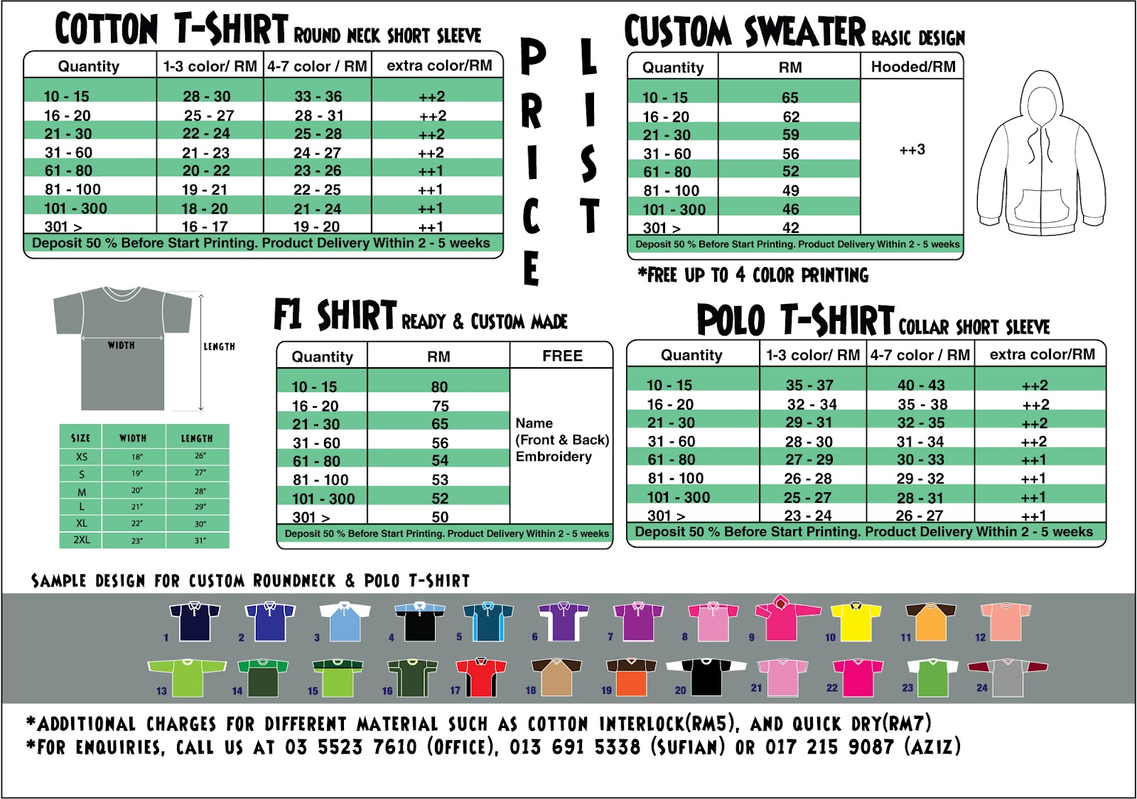 Shirt price list images for T shirt printing price list