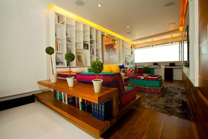 Reading room in Modern apartment by Craft Arquitectos