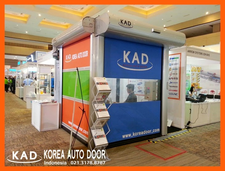 a picture of kad pintu high speed door in allpack indonesia expo