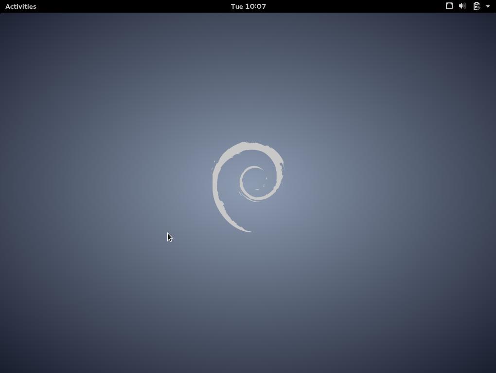 Debian GNOME Desktop