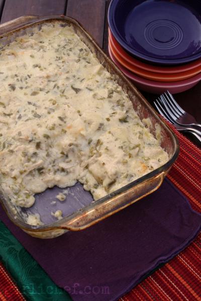 girlichef: Green Chile Chicken Tortilla Casserole {#SundaySupper: # ...