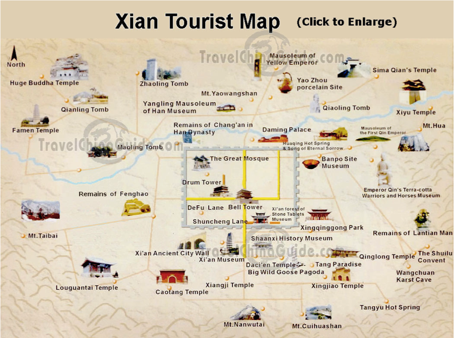 ituraadAsiam Hello from Huashan – Xian Tourist Map