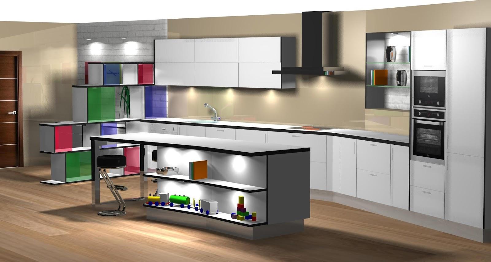 Dise o muebles de cocina dise o de cocina comedor lacado - Diseno cocinas ...