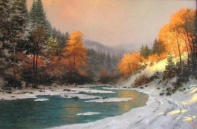 Thomas Kinkade Autumn Snow3