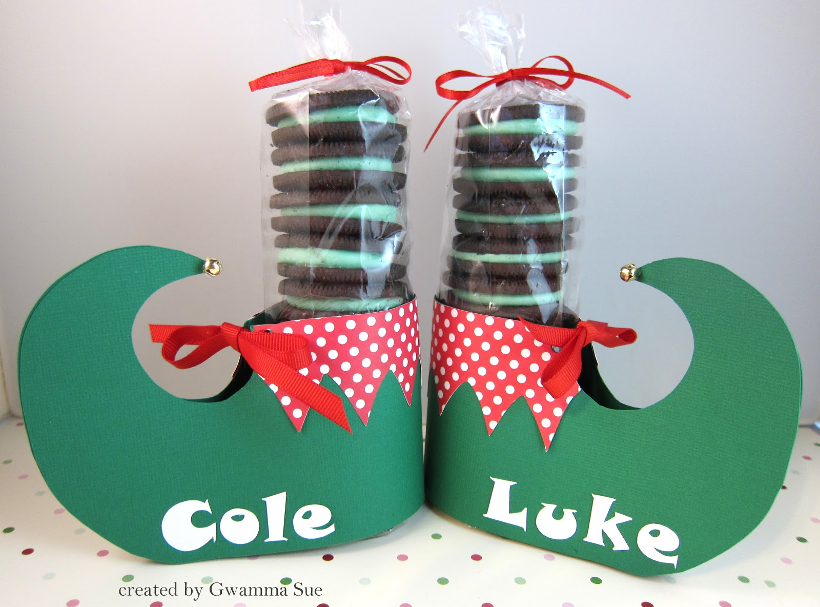 Sue's Stamping Stuff: Oreo Elf Shoes