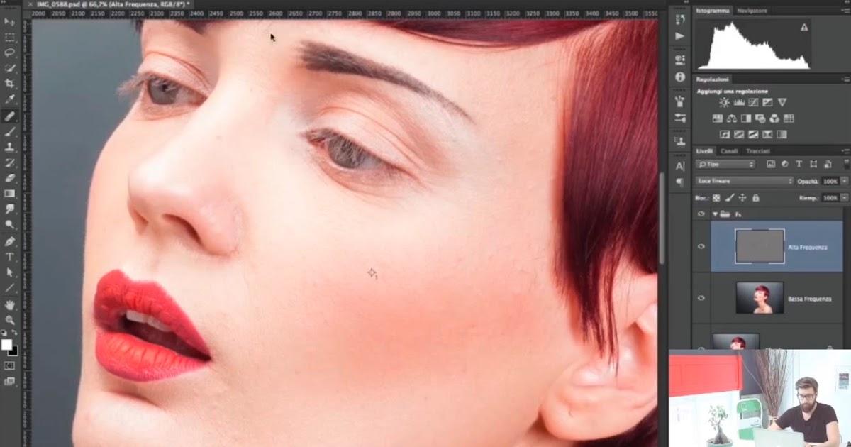 Tutorial Fotoritocco Pelle con Photoshop: Tecnica Separazione delle Frequenze