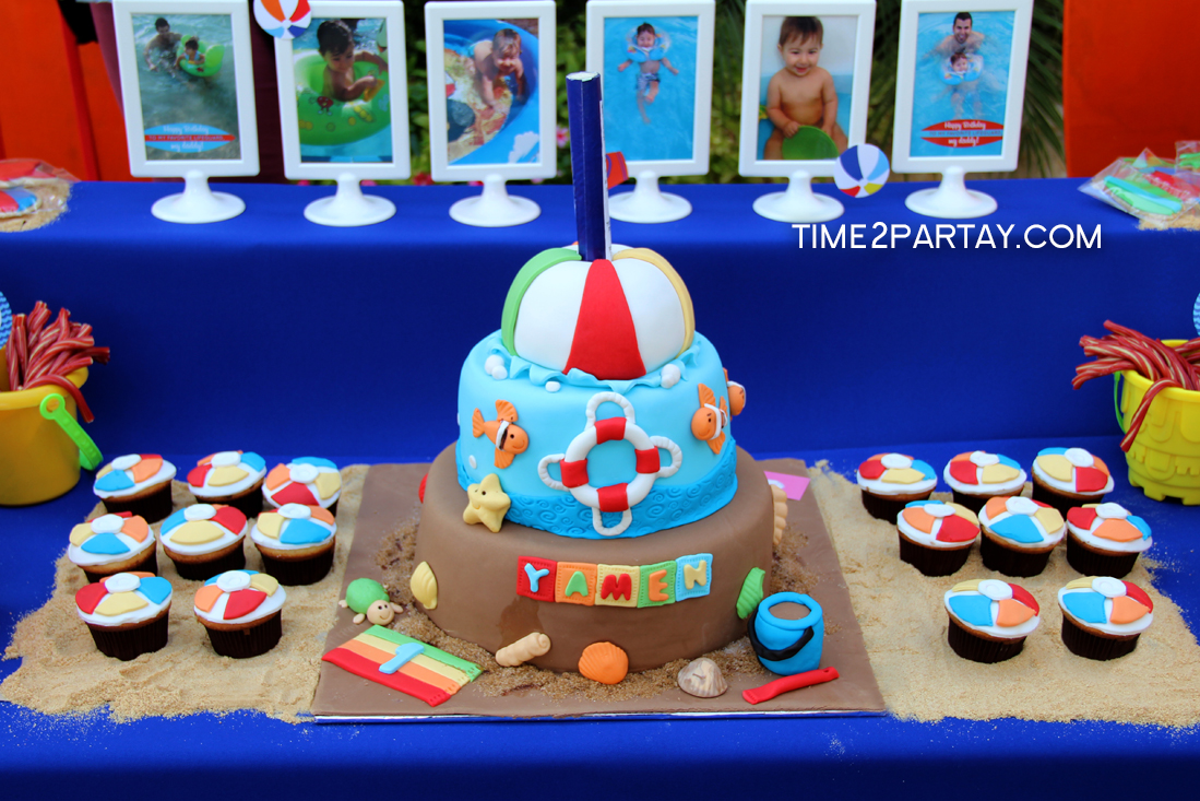yamen s first pool birthday party time2partay com on birthday cake with name yaman