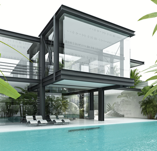 Glass house art and architecture for Small glass house plans