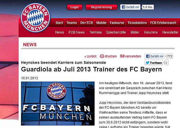 Josep Guardiola dirigirá al Bayern Múnich